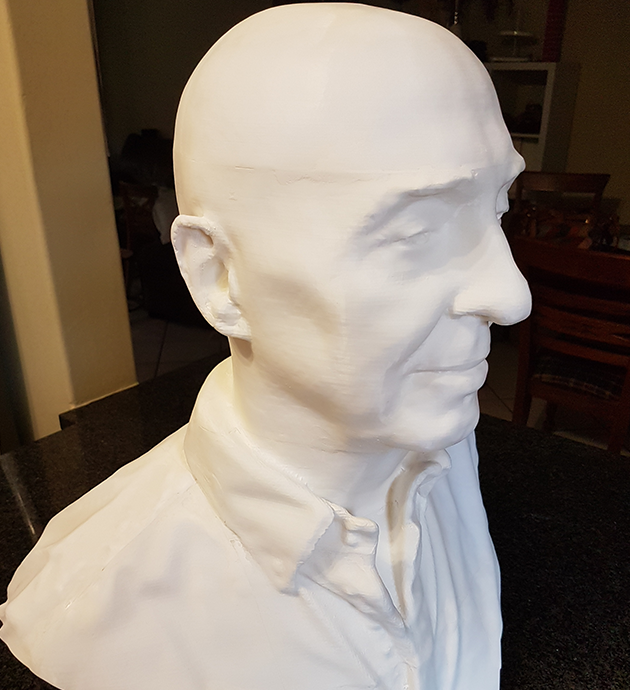 Hendrik 3D Printed after live scan